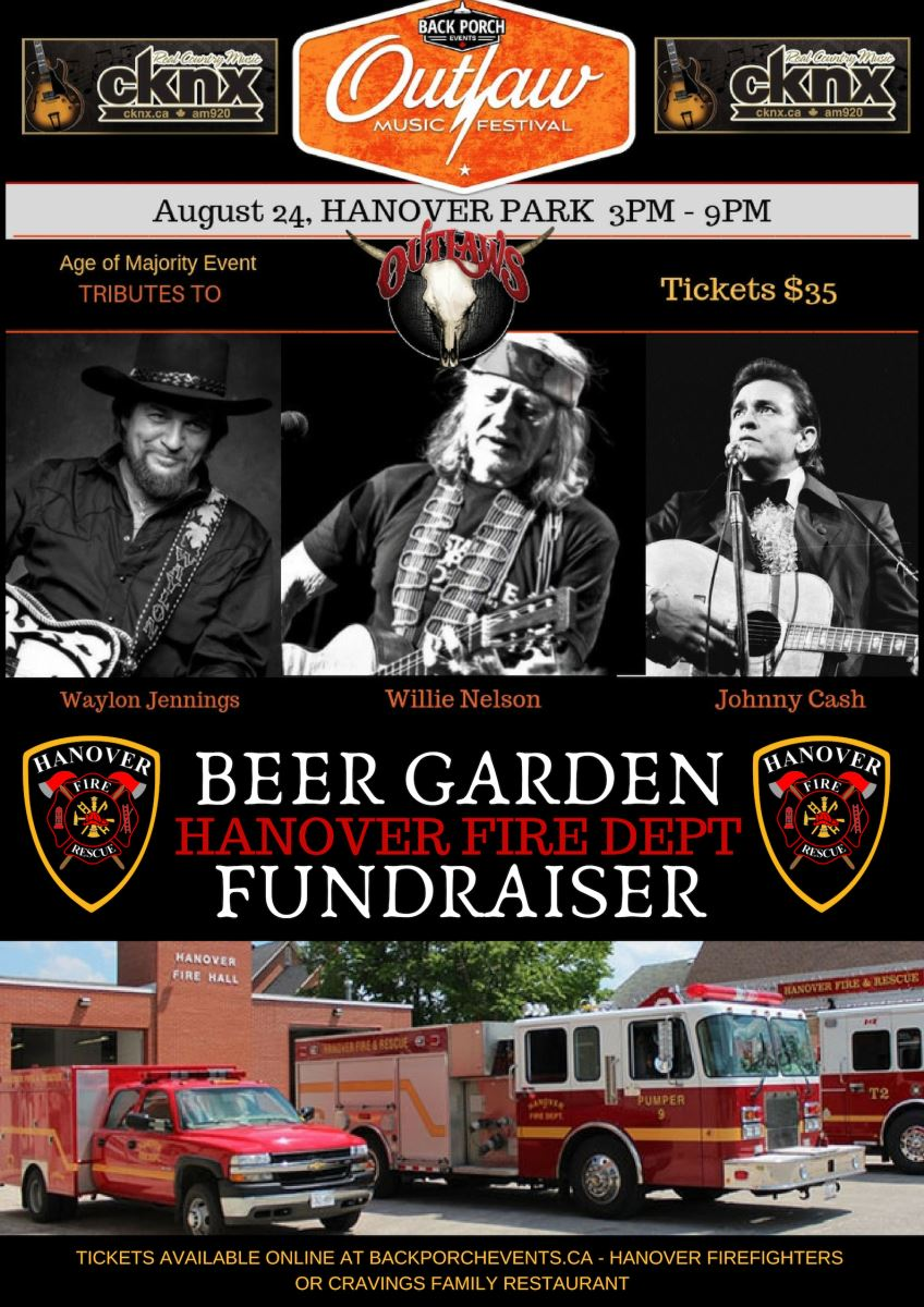 Outlaw Country Music Festival - Hanover Firefighter Fundraiser